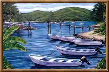 fishing_boats_and_bridge_1998_36x42