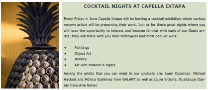 Capella Cocktail Nights